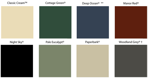 COLORBOND® Steel Classic Colours